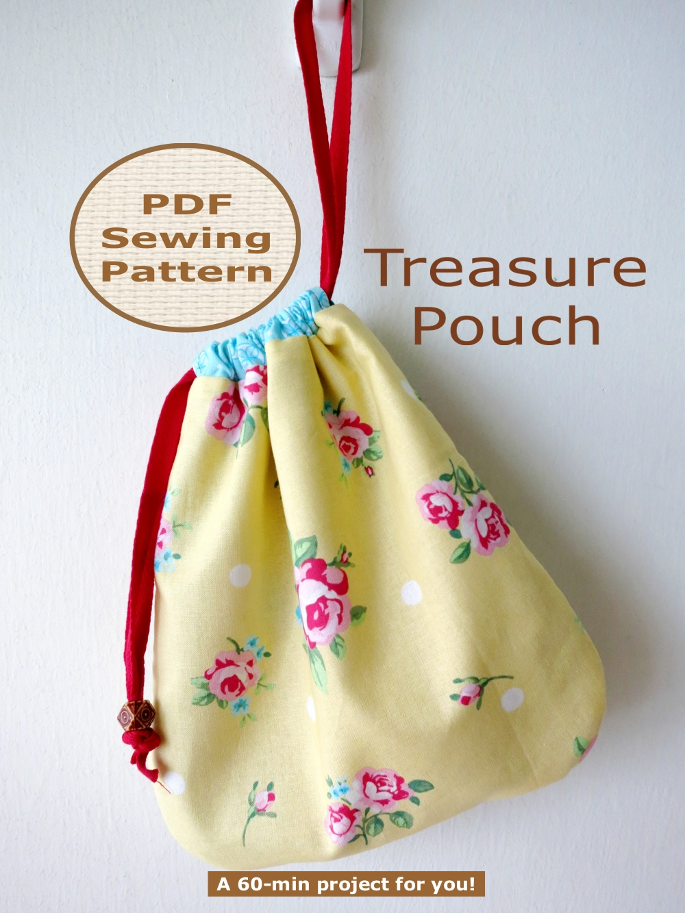 BEGINNER 60-min PDF Bag Sewing Pattern And Tutorial - Treasure Pouch ...